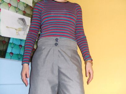 Grey trousers - front view