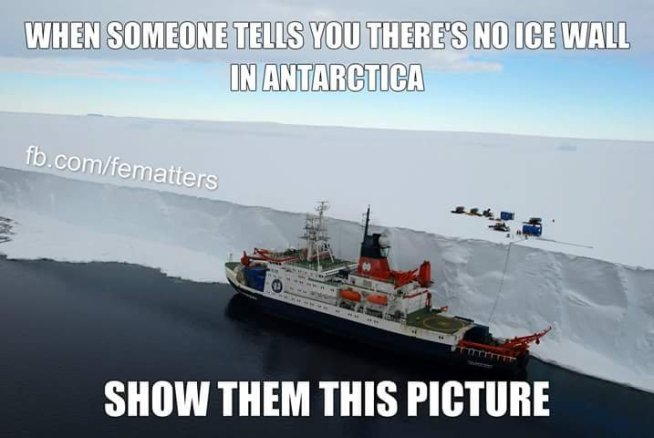 Crazy Flat Earth Ice Wall Memes Disprove Themselves - It's