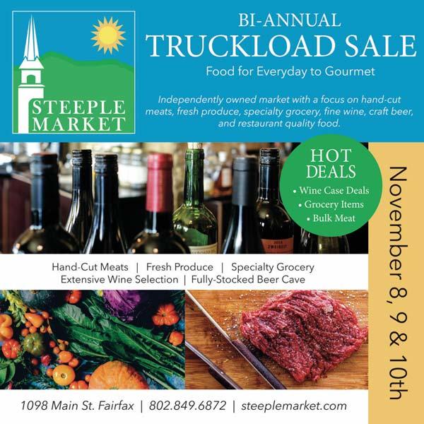 truckload sale grocery fairfax vt