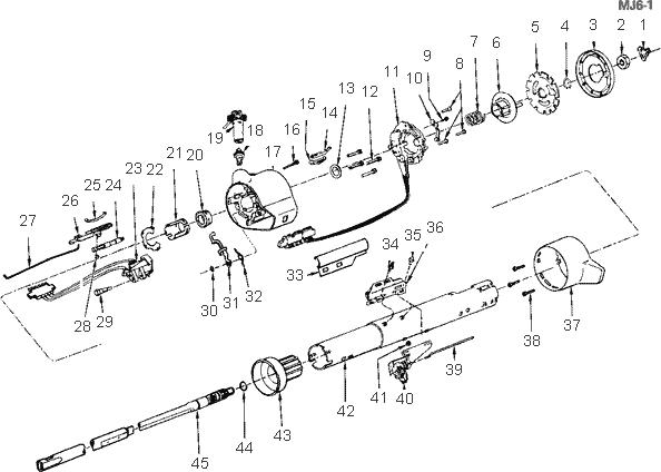 Exploded View For The 1984 Chevrolet Cavalier Non-Tilt