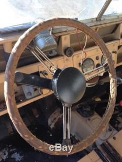 Vintage Leather Steering Wheel Cover For 17 Inch Wheel