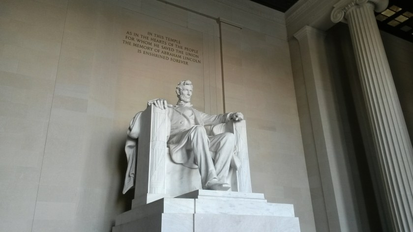Statue von Präsident Abraham Lincoln im Lincoln Memorial in Washington (Foto: Stefan Fries)