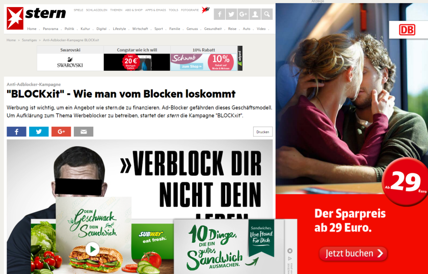 (Screenshot: stern.de)