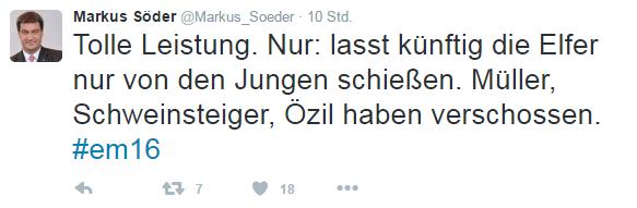 Korrigierter Tweet von Markus Söder