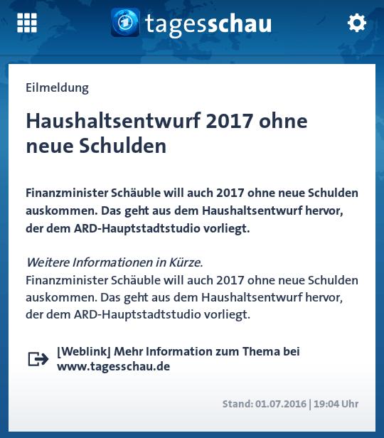 (Screenshot: tagesschau-App)