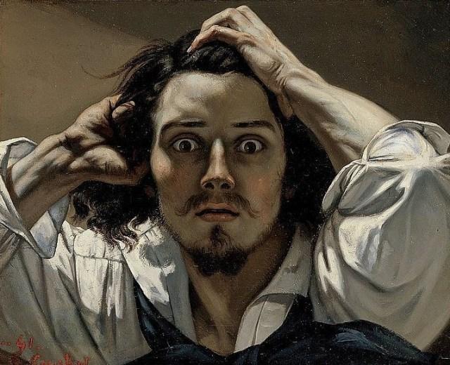 """von Gustave Courbet """"Der verzweifelte Mann"""""""