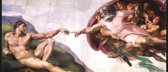 """Michelangelo """"Die Erschaffung des Adam"""" mit mir als Adam"""