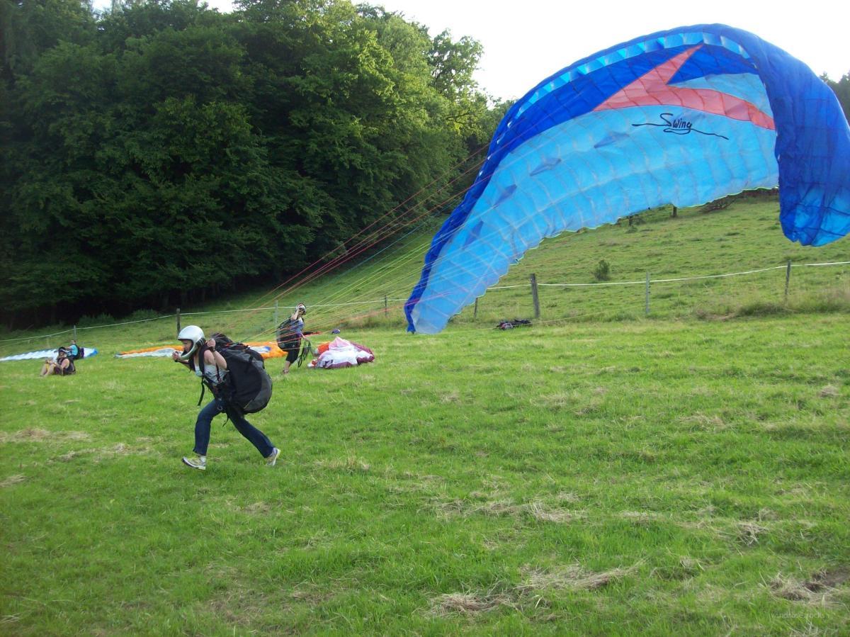 Paragliding in Odenwald - nur ein kleiner Hüpfer...