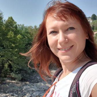 Ein Selfie am Fluss Rioni. Bin ja eitel :-)