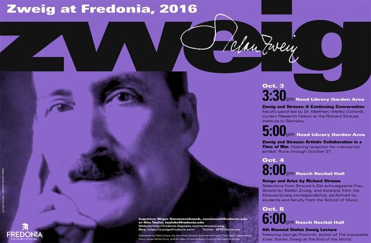 """""""Zweig at Fredonia 2016"""" 3-5 October 2016"""