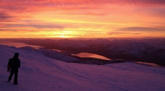 Sunset over Lochaber