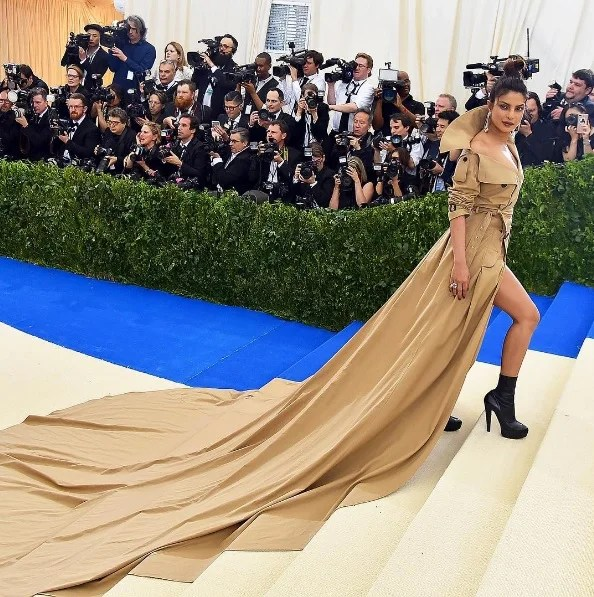 Trench Coat Dress, Priyanka Chopra, Met Gala 2017