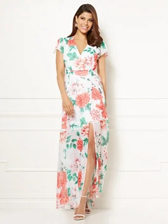 Eva Mendes Collection - Allison Maxi Dress - White Floral
