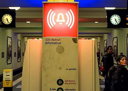 Berlin u-bahn station platform