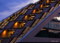 Dockland Building at Night