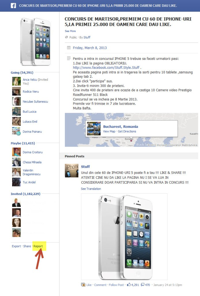 concursuri fake pe facebook