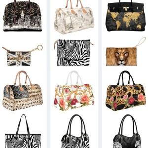 oferta genti Manie cu imprimeuri zebra leopard si print floral