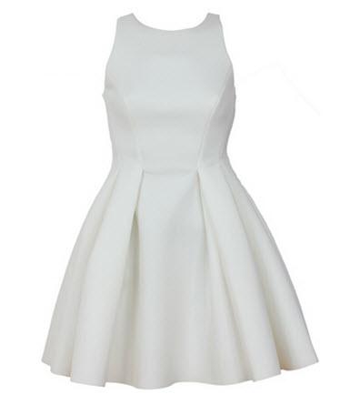 rochii albe vintage ROCHIE ASOS SIMETTE WHITE