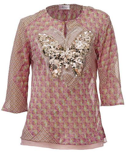 bluza cu imprimeu Linea Tesini si aplicatii de paiete