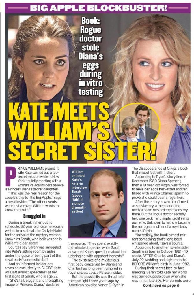 Stiati ca Lady Diana are o fiica secreta cu printul Charles
