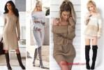 Rochii tricotate pentru toamna si iarna – Modele online groase sau subtiri