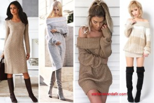 Rochii tricotate pentru toamna si iarna