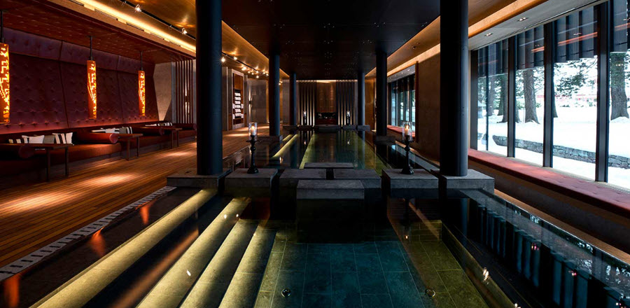 piscina cu apa hidro termala