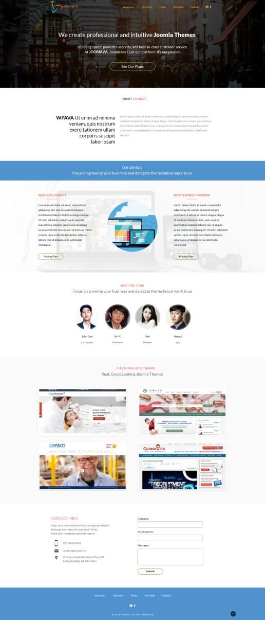 Joomava website design & wordpress slicing
