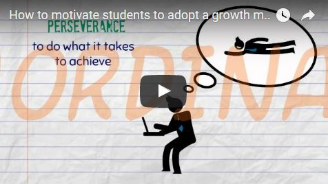 How to motivate students to adopt a growth mindset