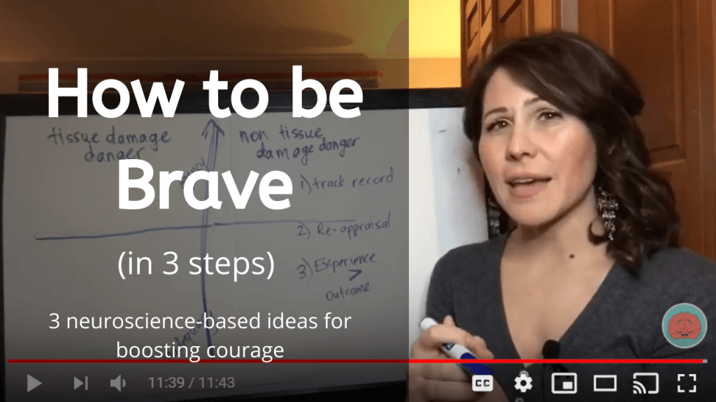 how to be brave in 3 steps