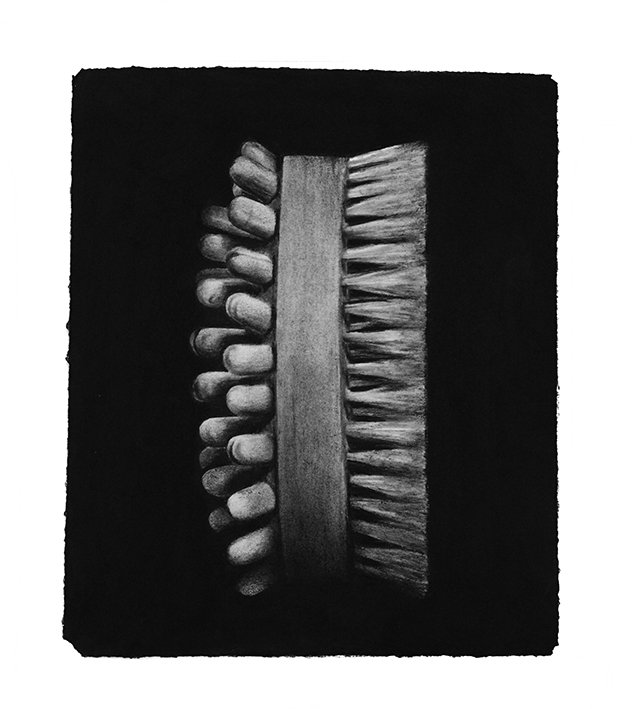 """bracelet"" 2015, charcoal drawing, 23,5 x 38,5 cm"