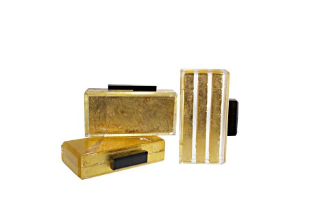Gold Lucite Clutches