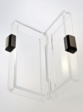 NASA engineered modern-inspired Stefanie Phan clear acrylic clutch 195