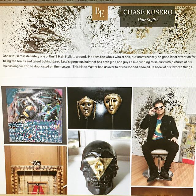 Chase Kusero Celebrity Hair Stylist and Aaron R. Thomas art collector