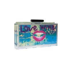 Love Wins Hand Painted Graffiti Bag Acrylic Clutch_