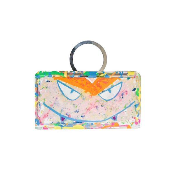 Silver Sass Monster Graffiti Bag