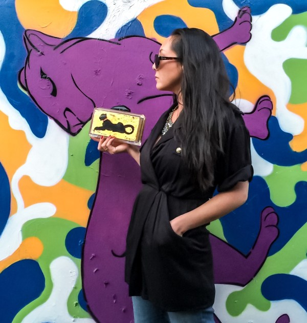 Panther of the Light 24k Gold and Acrylic Clutch