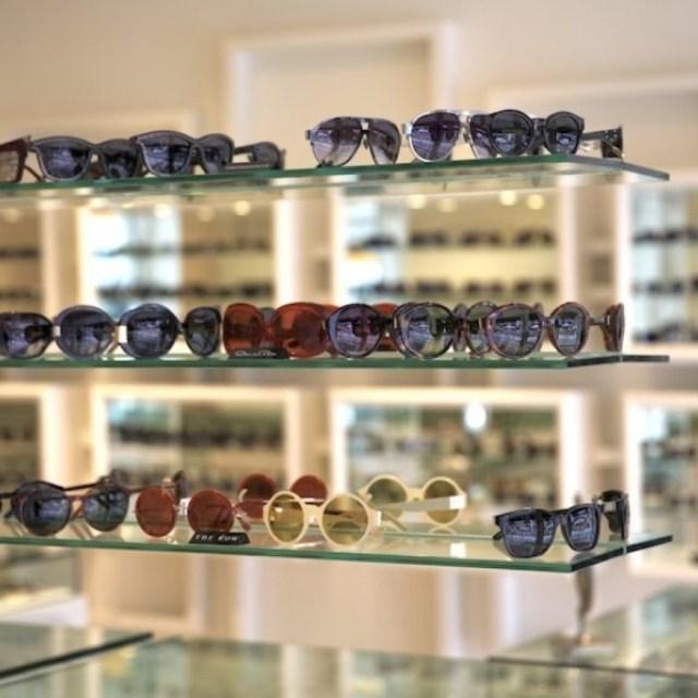 A selection of Linda Farrow for Alexander Wang, Oscar de la Renta and The Row sunglasses at C By Karina