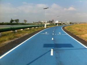 Skylane - Fahrradtour um den Flughafen in Bangkok