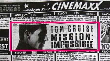 WAZ-Kinoprogramm: Mission Impossible