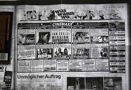 Kinoprogramm aus der WAZ