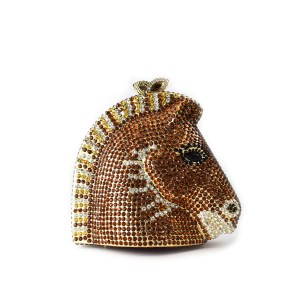 Horse Clutch Brown