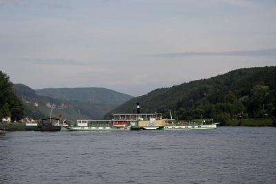Dampferwende in Bad Schandau