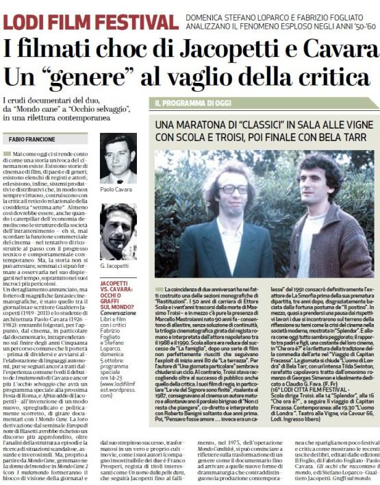 Il Cittadino, 2 ottobre 2014