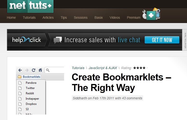 Bookmarklets, a quick follow up