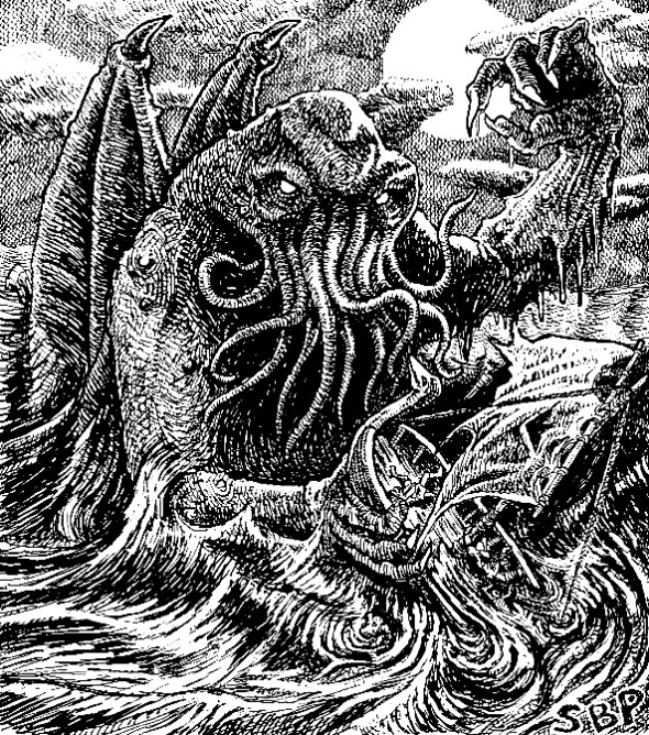 Cthulhu attacks a ship