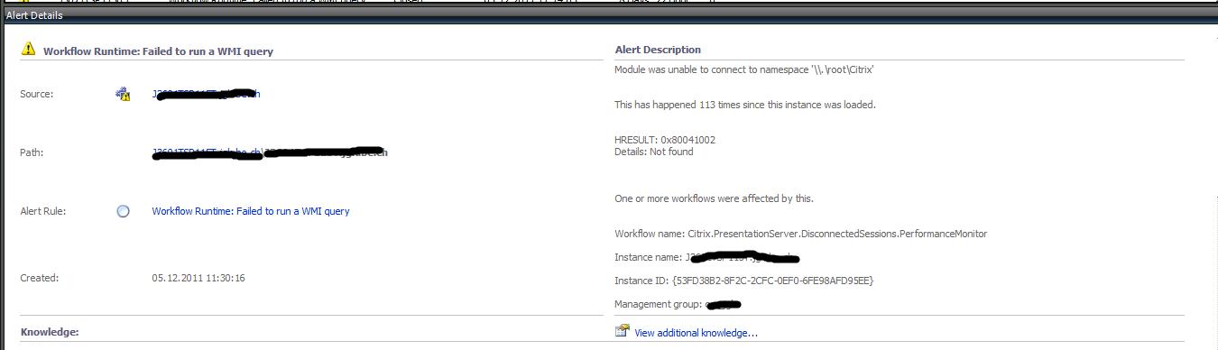 Fixing Citrix WMI errors 0x80041001 / 0x80041002 – XenApp 6