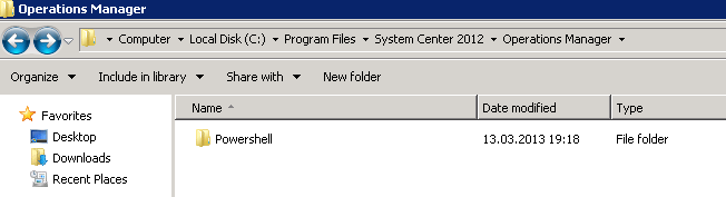 SCOM 2012 – Install SCOM PowerShell Modules Without SCOM