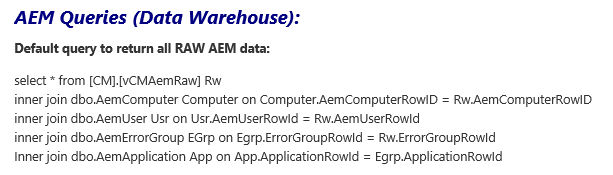 SCOM 2012 – Custom AEM Reports | STEFANROTH NET