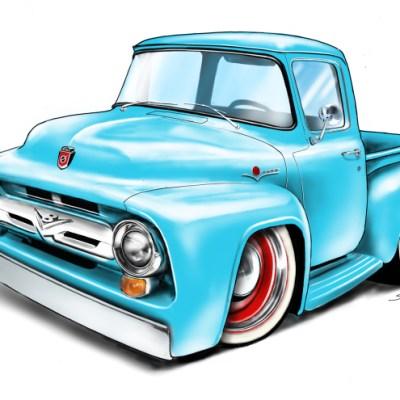 56 ford f100, american muscle, trucks, keep on trucking, american trucks,